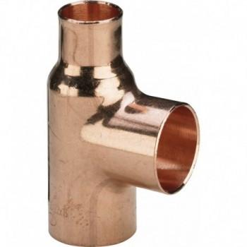 95130 TEE RID. F. ø22x16x16 RAME SALD. 585051 - A saldare per tubo rame