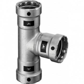 4218 TEE F. DN25 ACC. PRESS. 699024 - A pressare in acciaio