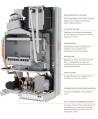 Caldaia Ferroli Divacondens D F24 a condensazione camera stagna 25 Kw Metano 0CBF4YWA