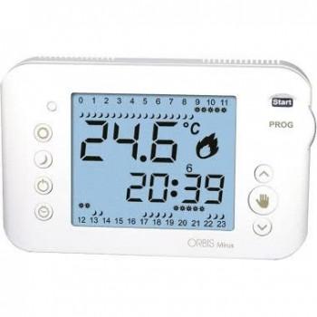 Orbis OB324700 - MIRUS BIANCO Cronotermostato digitale a batteria,da parete,programmazione giornaliera/settimanale OB324700 -...