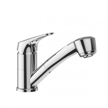 Miscelatore rubinetto lavello orientabile con doccetta estraibile, 2 getti in ABS - Cartuccia Ø 40 mm BTKIMCLA030002 - Per la...