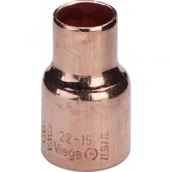Manicotto di riduzione in rame, estremità a saldare femmina ø35x28 105334 - A saldare per tubo rame