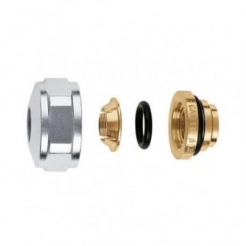 """437 Raccordo meccanico a tenuta O-Ring ø3/4""""x18 per rame 437518 - Mecc. con O-Ring+monocono"""