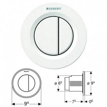 Geberit comando a distanza tipo 01 pneumatico, per risciacquo a due quantità, pulsante da incasso, colore bianco 116.042.11.1...