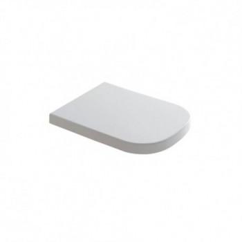 GALASSIA MEG11 Coprivaso avvolgente con cerniere con chiusura rallentata softclose in termoindurente, finitura bianco lucido ...