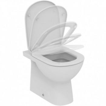 GEMMA 2 sedile a chiusura rallentata bianco europa con cerniere in metallo J523301 - Sedili per WC