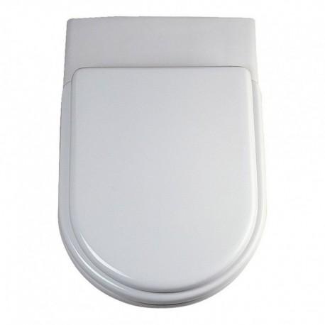 ESEDRA sedile termoindurente bianco europa con cerniere inox T627701 - Sedili per WC