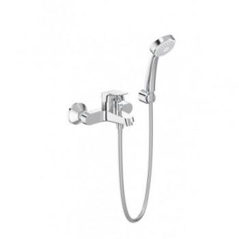 Base Miscelatore rubinetto monocomando esterno vasca / doccia con set doccia cromato B5120AA - Gruppi per vasche
