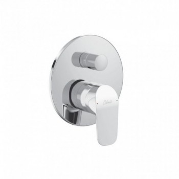 BASE Miscelatore rubinetto monocomando ad incasso per vasca/doccia, non è corredato di componenti doccia, cromo A6728AA - Gru...