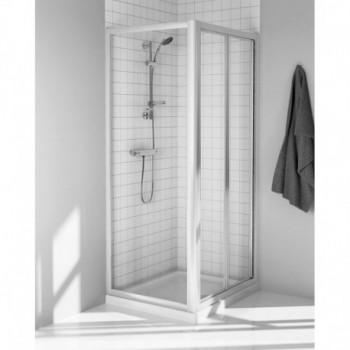 TIPICA PS 80 PORTA SOFF. STAMP.C/bianco europa T2502AC - Box doccia in cristallo