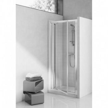 TIPICA PV 70 PORTA PIVOT. STAMP.C/bianco europa T2393AC - Box doccia in cristallo