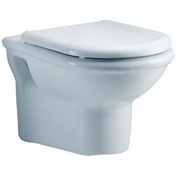 CLODIA wc sospeso con sedile 57x36 bianco J254700 - Vasi WC