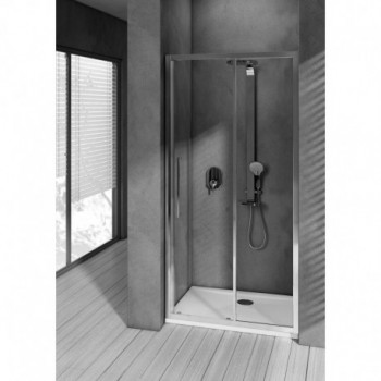 KUBO PSC 115 PORTA SCORR. SAT./BRILL LUC. T7337EO - Box doccia in cristallo