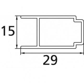 TIPICA PROFILO AGG. ALLUNGAMENTO 25mm S.BRILL T2196YB - Accessori