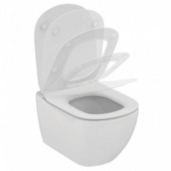 Tesi Vaso sospeso Aquablade completo di sedile slim a chiusura rallentata e sgancio rapido. Bianco seta. T3546V1 - Vasi WC