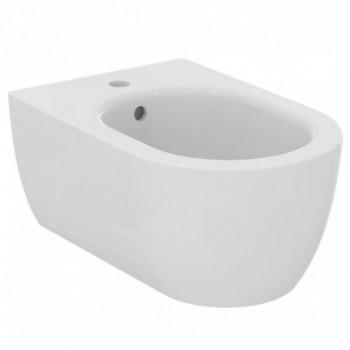Blend Curve Bidet sospeso monoforo con fissaggi nascosti ed erogazione dell'acqua dal rubinetto T375001 - Bidet