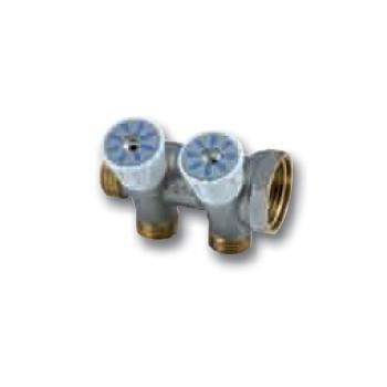 Collettore componibile con regolazione, per impianti sanitari. Filetto M G 1/2 - 3 derivazioni 01720550 - Collettori di distr...