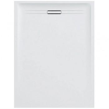 Geberit SESTRA piatto doccia rettangolare L.80 P.120 cm, colore bianco finitura effetto pietra 550.254.00.1 - Piatti doccia