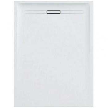 Geberit SESTRA piatto doccia rettangolare L.80 P.140 cm, colore bianco finitura effetto pietra 550.256.00.1 - Piatti doccia