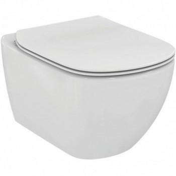 Tesi vaso wc sospeso AquaBlade con fissaggi completamente nascosti, completo di sedile slim - New Logo T465301 - Vasi WC