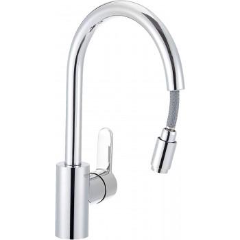 Miscelatore rubinetto lavello cucina Grohe Eurostyle Cosmopolitan estraibile cromo lucido 31126004 - Per lavelli