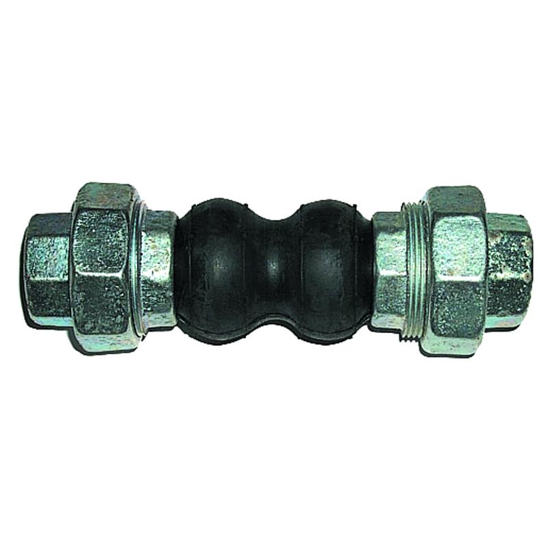 """Giunto elastico in gomma con RACCORDO 3 pz. da 1""""1/2 00000015212 - Giunti flessibili"""