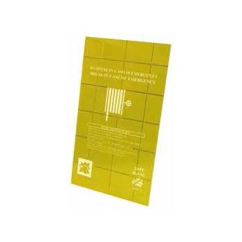 """LASTRA FRANGIBILE """"SAFE GLASS"""" per naspo cuba / inca / twin 25 dim. 370 x 450 mm V00954 - Idranti"""