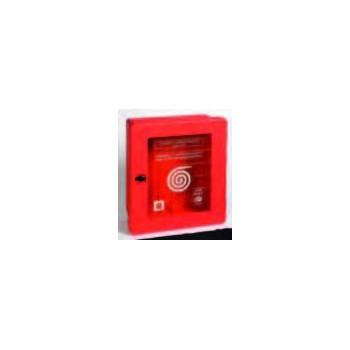 Cassetta plastica rossa portello vetrato A10507 - Cassette antincendio