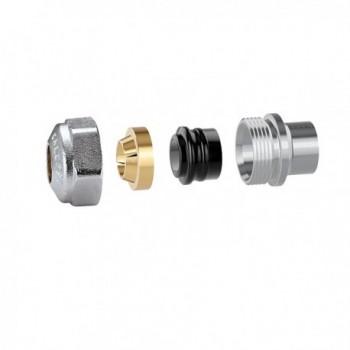 439 Raccordo per tubo rame, con guarnizione, 23 p.1,5 - Ø 10 439010 - Mecc. con O-Ring+monocono