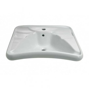 "Lavabo ergonomico serie ""Basic"" in vitreous china 67x58cm THE400-EA"