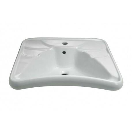 "Lavabo ergonomico serie ""Basic"" in vitreous china 67x58cm THE400-EA"
