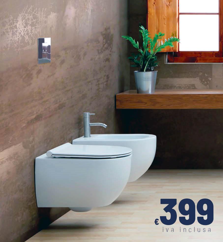 Sanitari sospesi: Vaso wc e bidet ad un prezzo imperdibile!